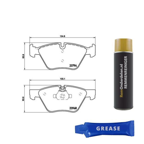 Remblokkenset voorzijde Brembo premium BMW 3 Coupé (E92) 325 d