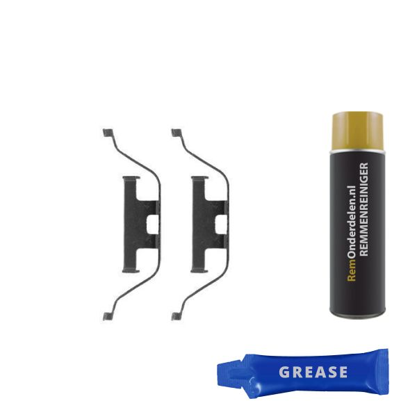 Remblok-montageset achterzijde BMW X5 (E53) 4.8 is