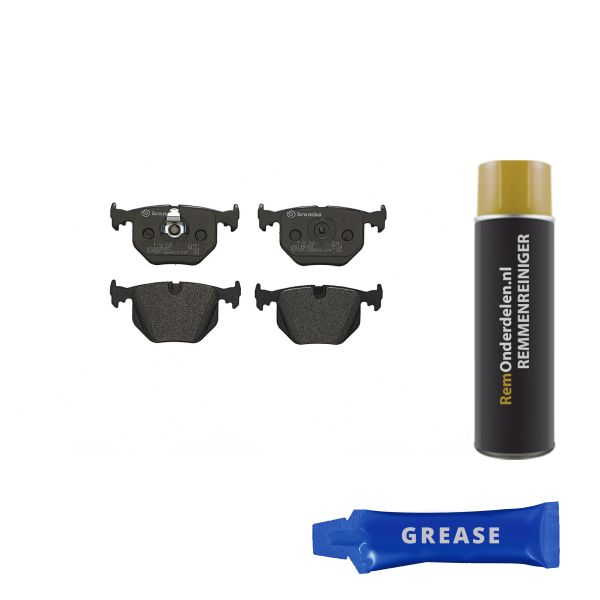 Remblokkenset achterzijde Brembo premium BMW X5 (E53) 4.8 is