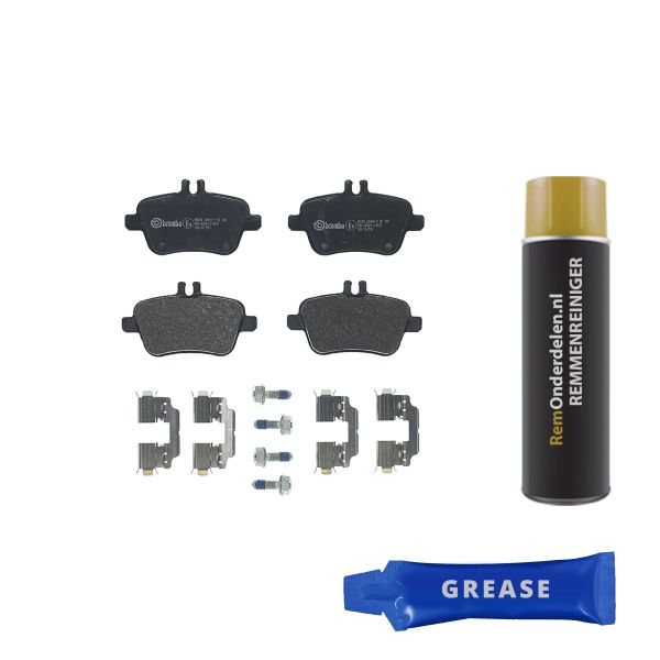 Remblokkenset achterzijde Brembo premium MERCEDES-BENZ B-KLASSE (W246, W242) B 220 CDI / d
