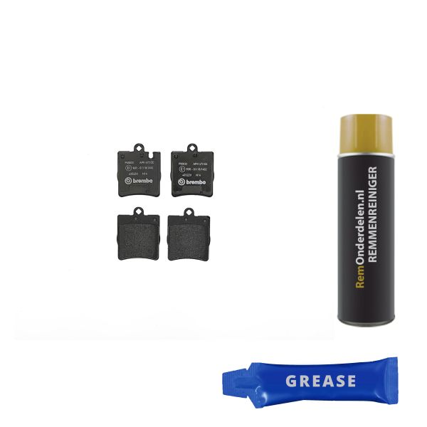 Remblokkenset achterzijde Brembo premium MERCEDES-BENZ C-KLASSE (W203) C 180 Kompressor