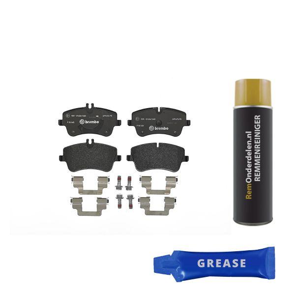Remblokkenset voorzijde Brembo premium MERCEDES-BENZ C-KLASSE (W203) C 180 Kompressor