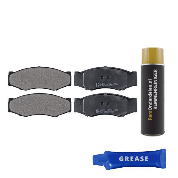 Remblokkenset voorzijde originele kwaliteit NISSAN BLUEBIRD 1.8 Turbo