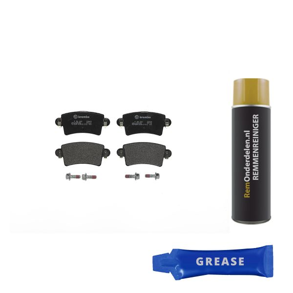Remblokkenset achterzijde Brembo premium NISSAN INTERSTAR Bestelwagen dCi 120