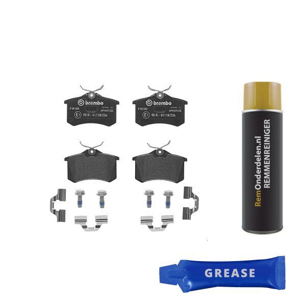 Remblokkenset achterzijde Brembo premium VW VOLKSWAGEN BORA Variant (1J6) 1.4 16V