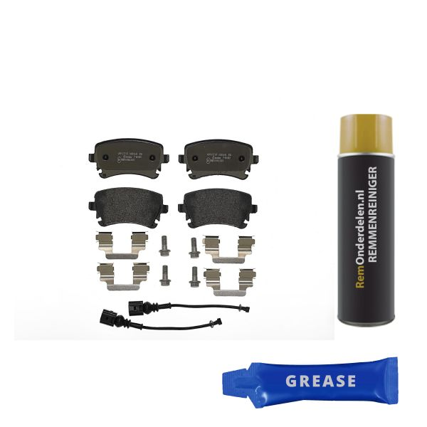 Remblokkenset achterzijde Brembo premium VW VOLKSWAGEN MULTIVAN V (7HM, 7HN, 7HF, 7EF, 7EM, 7EN) 2.0