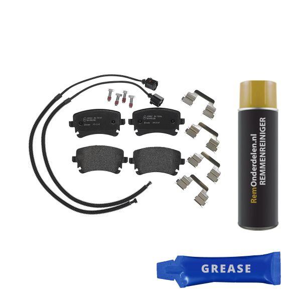 Remblokkenset achterzijde Brembo premium VW VOLKSWAGEN PHAETON (3D1, 3D2, 3D3, 3D4, 3D6, 3D7, 3D8, 3D9) 4.2 V8 4motion