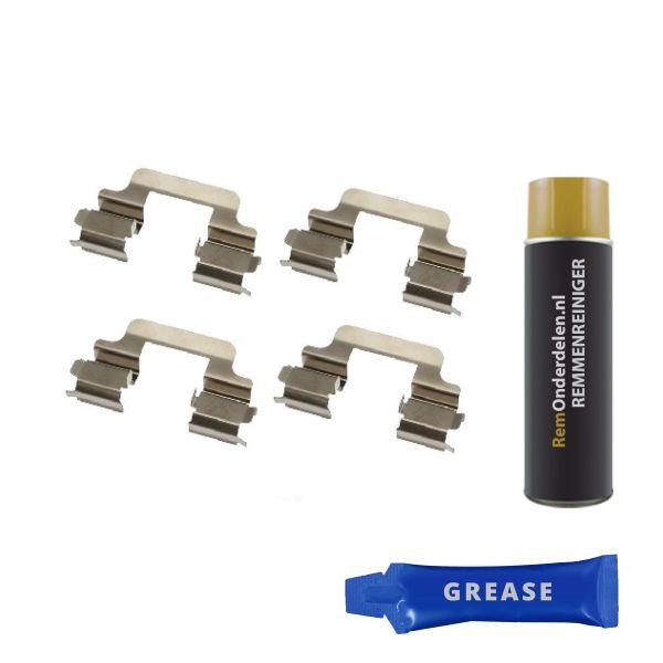 Remblok-montageset achterzijde VW VOLKSWAGEN TRANSPORTER V Open laadbak/ Chassis (7JD, 7JE, 7JL, 7JY, 7JZ 2.5 TDI