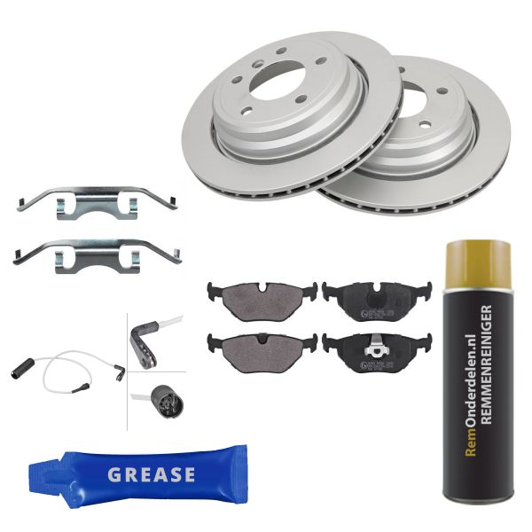 Voordeelpakket remschijven & remblokken achterzijde BMW 5 (E39) 523 i