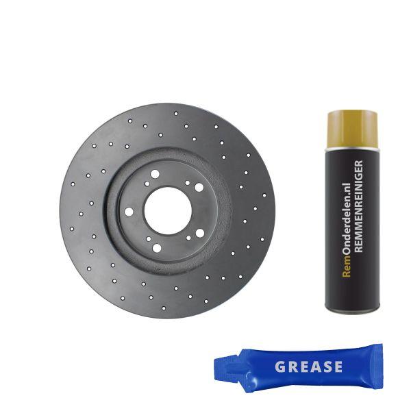 Geperforeerde remschijven voorzijde Sport kwaliteit BMW 5 (E60) 525 d
