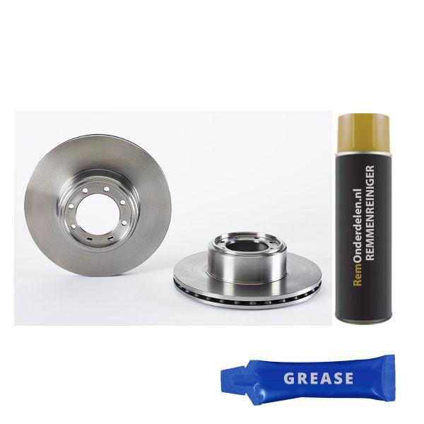 Remschijven achterzijde Brembo premium IVECO DAILY VI Open laadbak/ Chassis 35S17, 35C17, 40C17, 45S17,45C17, 50C17, 55C17, 65C17,...