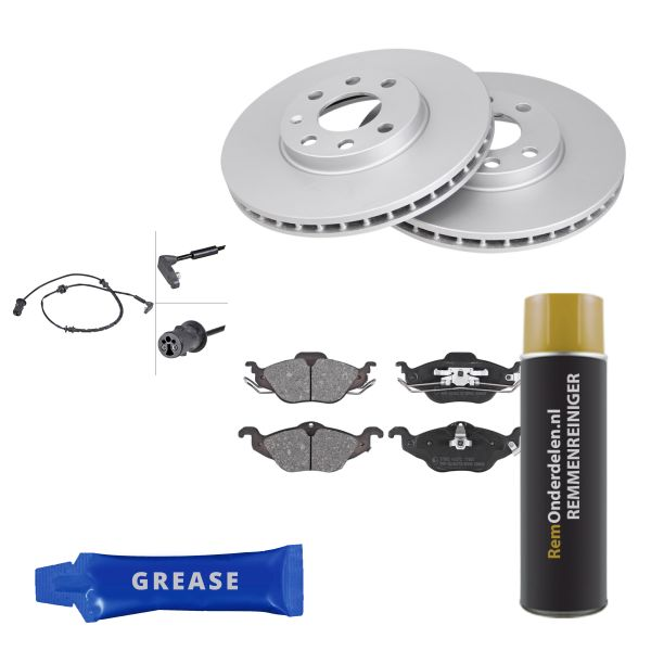 Voordeelpakket remschijven & remblokken voorzijde OPEL ASTRA G Hatchback 1.6