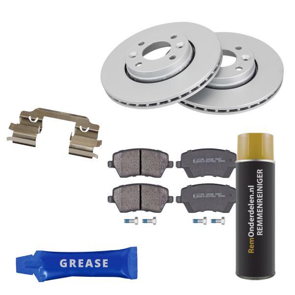 Voordeelpakket remschijven & remblokken voorzijde RENAULT CLIO IV Grandtour 1.5 dCi 110