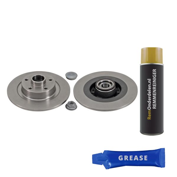 Remschijf achterzijde inclusief lagers en ABS-ring originele kwaliteit