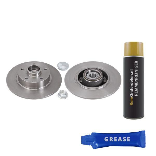 Remschijven achterzijde inclusief lagers en ABS-ring Brembo premium