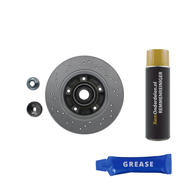 Geperforeerde remschijven achterzijde inclusief lagers en ABS-ring Sport kwaliteit