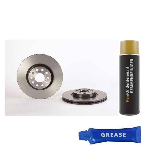 Remschijf voorzijde Brembo premium VW VOLKSWAGEN CADDY ALLTRACK Stationwagen (SAB) 1.4 TGI CNG