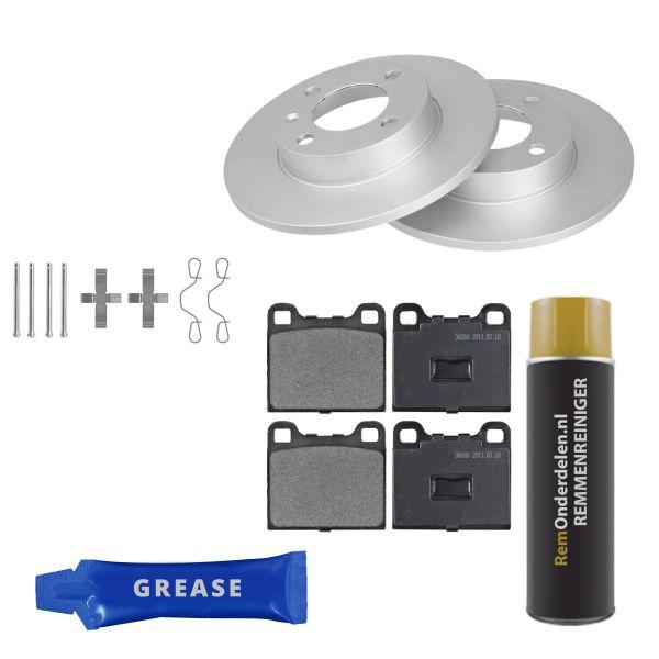 Voordeelpakket remschijven & remblokken voorzijde VW VOLKSWAGEN DERBY (86C, 80) 1.0