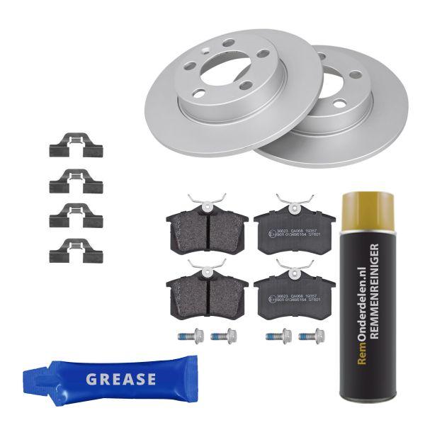 Voordeelpakket remschijven & remblokken achterzijde VW VOLKSWAGEN GOLF IV (1J1) 1.6