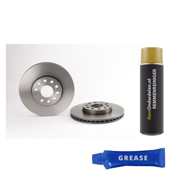 Remschijven voorzijde Brembo premium VW VOLKSWAGEN GOLF V (1K1) 1.6 FSI