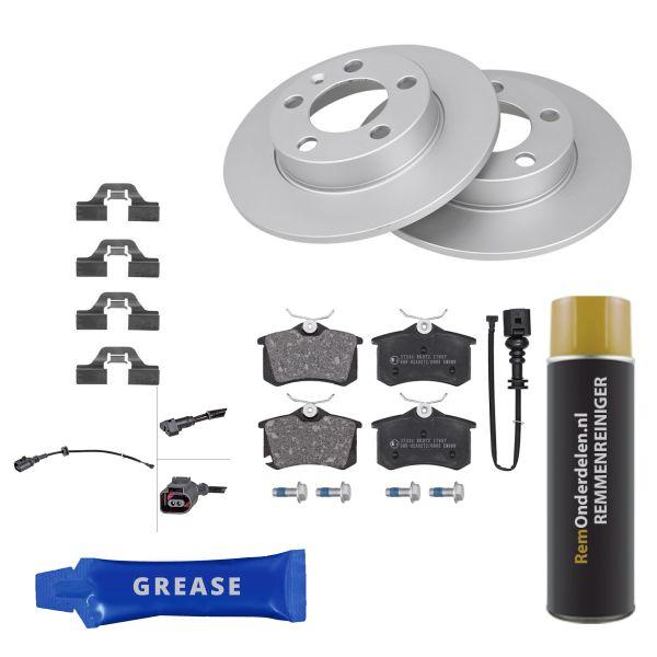 Voordeelpakket remschijven & remblokken achterzijde VW VOLKSWAGEN POLO (9N_) 1.4 16V