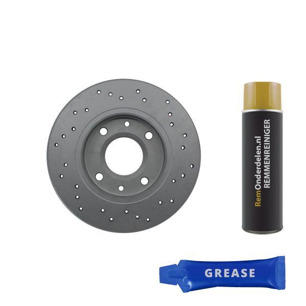 Geperforeerde remschijven voorzijde Sport kwaliteit VW VOLKSWAGEN POLO CLASSIC (86C, 80) 1.3 Cat