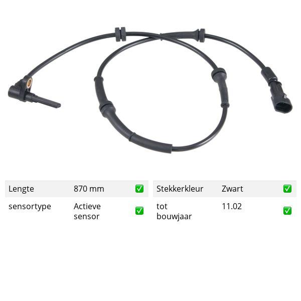 ABS-sensor voorzijde, links ALFA ROMEO 156 1.6 16V T.SPARK