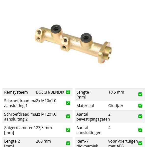 Hoofdremcilinder voorzijde RENAULT 25 2.8 V6 Injection