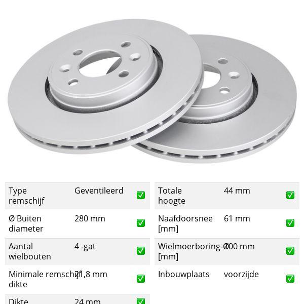 Remschijven voorzijde originele kwaliteit RENAULT SCÉNIC I MPV 1.6